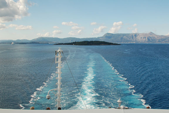 Leaving Corfu, Greece